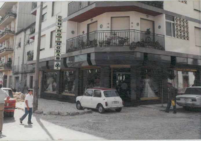 1982, la fachada Centro de Modas Trebol
