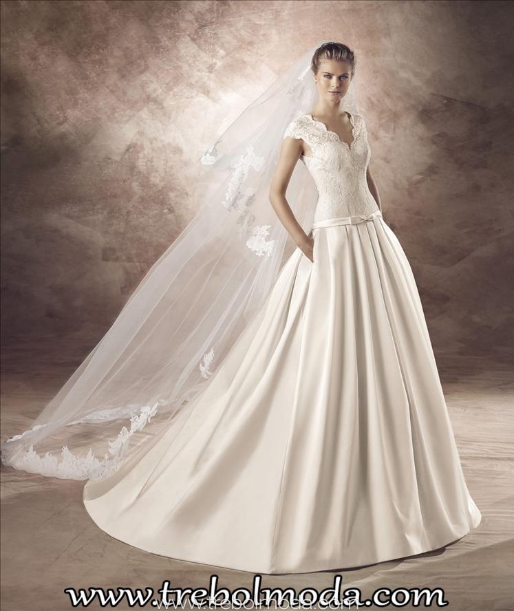 vestidos de novia low cost: 490€ - trebol moda