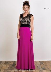 Vestidos Largos Lisos Trebol Moda