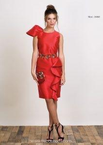 Vestido rojo y cinturón . Tallas 40 y 44 . Mod. 26068 e5cfbbba8b30