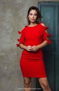 Vestidos cortos boda rojos