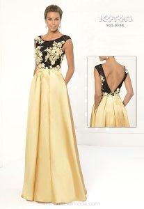 Vestidos de graduacion largos espalda descubierta dorados
