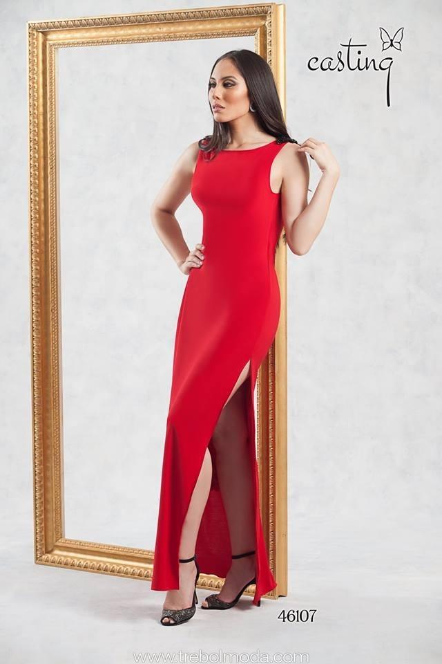 gran venta descuento más bajo sitio oficial Vestido largo con abertura en pierna