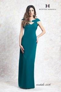 Vestido largo color buganvilla