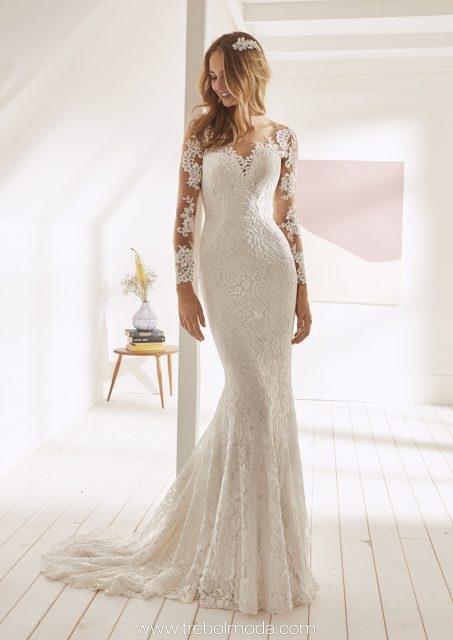 201e4db6c8 Orfila  Sensual vestido de novia corte sirena