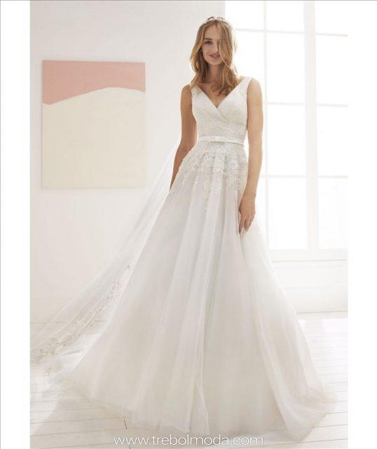 novias 2019: white one - trebol moda