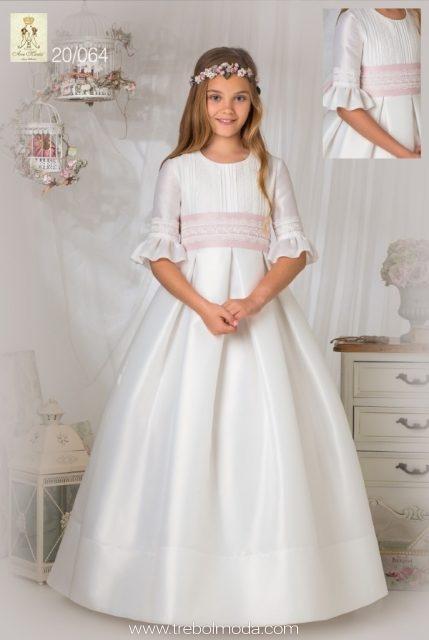 273c954e21 Vestido de comunión mangas flamencas. Mod. 20 064