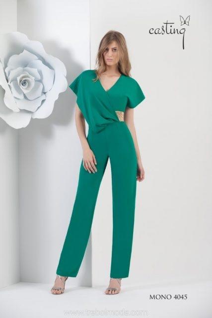 7931139139 Mono con drapeado lateral. Tallas 40 y 42. Color verde. Mod. 4045.