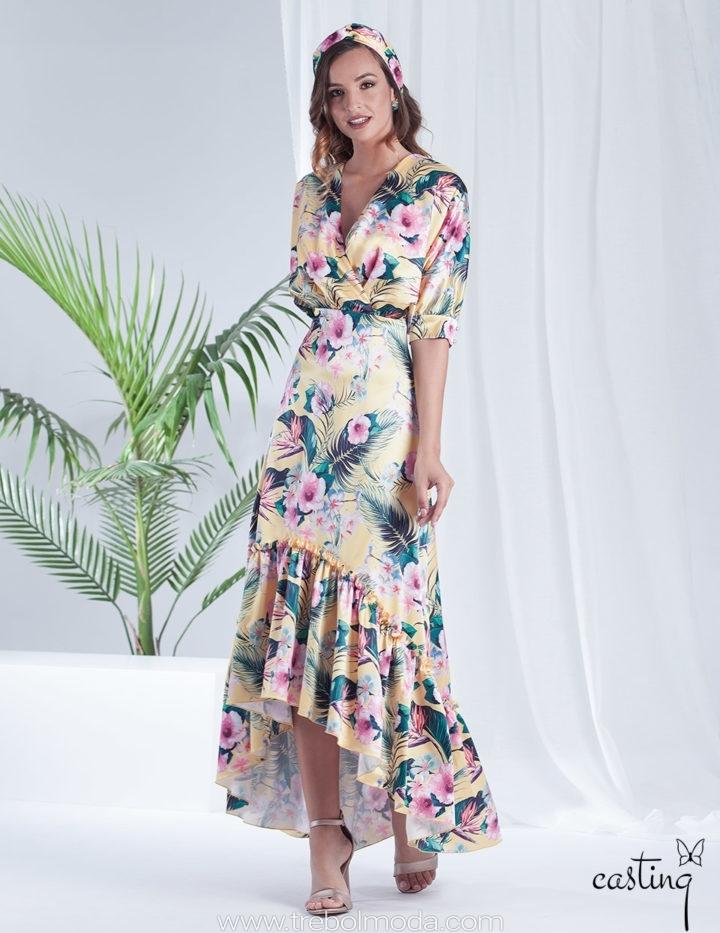 Vestidos Largos Estampados Trebol Moda